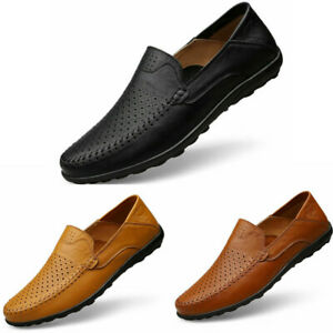 Men Casual Driving Boat Leather Shoes Moccasin Flat Slip On Loafers US Size 6-13