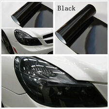Vehicle Headlamp Taillight Glossy Black Tint Overlay Film Sheet Sticker For Ford