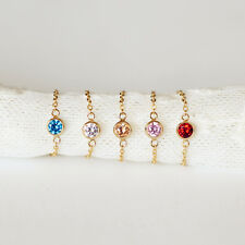 gold plated chain colorful rhinestone ring handmade custom size finger jewelry