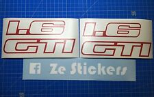 Kit Stickers custode Peugeot 205 1.6 GTI autocollant decal replica