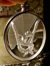 STUNNING  ANGEL/ FAIRY PENDANTS INTAGLIO GLASS PENDANT HALLMARKED CHAIN STUNNING