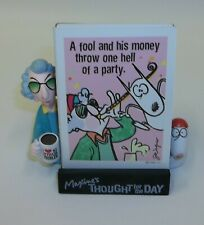 Hallmark Maxine Thought for the Day Humorous Cards with Holder