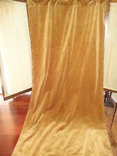 POTTERY BARN VELVET AMBER GOLD HONEY(1) UNLINED POLE TOP DRAPERY PANEL 49X109