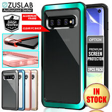 For Samsung Galaxy S10 Case Zuslab Heavy Duty Shockproof Clear Tough Iron Cover