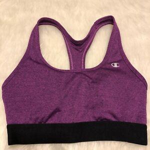 Champion Purple Racerback Sports Bra, Womens Size Small