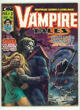 VAMPIRE TALES #3 VF+ 8.5 SATANA MAGAZINE 1974