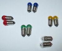 Ersatzlampen 6mm Kugel - Farbig  E5.5 - 19V -  Farbe nach Wahl  10 Stück   NEU