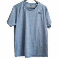 Adidas blue active wear short sleeve shirt