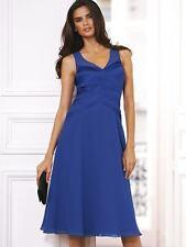 BNWT Teatro Satin Panel Blue Dress Size 6