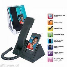 iDOCK PHONE & SPEAKER - Smart Phone iPhone Blackberry Hands Free Stand - BLACK