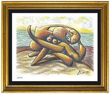 "Pablo Picasso Signed/Hand-Numbrd Ltd Ed ""Figures Seashore"" LithoPrint (unframed)"