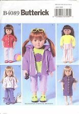 PATTERN toSEW 18inch doll hoodie flare jeans peasant 70s clothes Butterick 4089