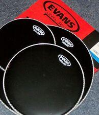 Evans BLACK Hydraulic Drum Head Pack 10 12 16