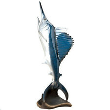 Sailfish Airborne Fish Billfish Big Sky Carvers Stonecast Sculpture Nib