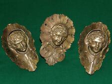3 Rare antique bronze billiard pocket corner – Cherub