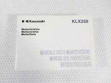 ORIGINAL KAWASAKI KLX 250 S9 Instrucciones Servicio IT, ES, NL 99976-1370