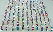 1000 GRAM 18K WHITE GOLD PLATED DRUZY RINGS ALLOY 100 PCS OVERLAY LOTS JEWELRY