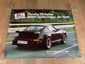 Rare Porsche 911 930 turbo showroom poster from dealership 1980's rare original