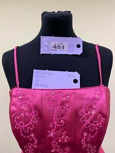 BNWT Ronald Joyce bridesmaid prom/pageant dress size 16 raspberry pink code 451