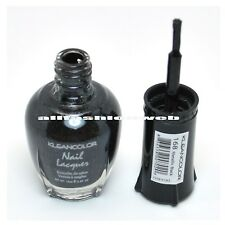 1 Kleancolor Nail Polish Lacquer #168 Metallic Black Manicure