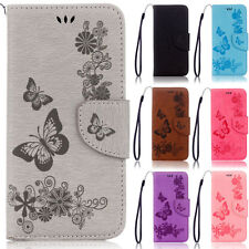 Two Butterflies Stand Wallet Leather Flip Case Cover For Samsung S4 S5 S6 Edge