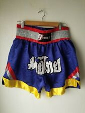 Revgear Deluxe Muay Thai Shorts in Blue for Mma Cafe Fighting Ufc Kick Boxing Xl