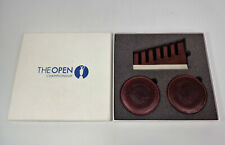 The Open Championship Set Of 6 Leather Coasters