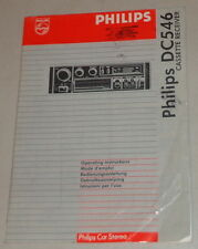 Operating Instructions Philips Car Radio Dc 546 Stand 08/1988