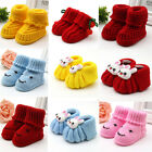 Infant Newborn Winter Warm Boots Soft Sole Shoes 0-6 Months Handmade Knitted