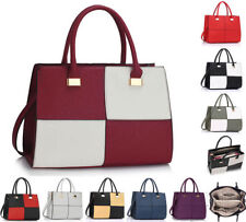 Zipper Check Tote Handbags with Inner Pockets