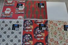 """Vintage Christmas wrapping Paper,  lot of 10 Sheets, Assorted 20"""" x 30"""""""