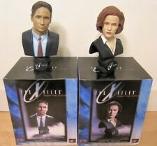 X Files Fight the Future Mulder & Scully Bust Autographed COA Duchovny Anderson