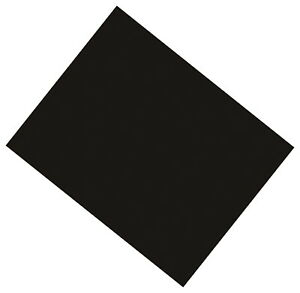 Pacon Coated Poster Board, 22 x 28 Inches, Black, Pack of 25
