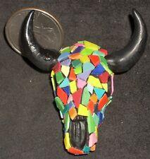 Dollhouse Miniature Boho Cowgirl Mosaic Wall Buffalo Skull 1:12 Mini Decor #8765