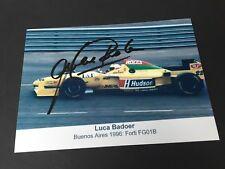 LUCA BADOER  Formel 1-Fahrer 1993-2009 signed Foto 10 x 15 Autogramm RARITÄT