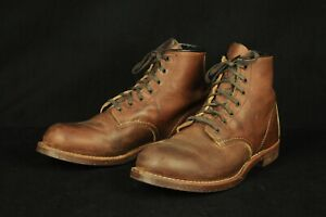 Red Wing Heritage #2962 Blacksmith Copper Leather Plain Toe Boots 9-1/2 D USA