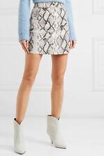 445$ Maje Leather short skirt snake style pyton skin size 34 NEW