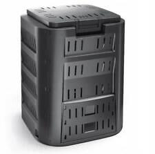 Komposter Garten Thermo-Komposter 220 L schwarz Kompostbehälter Kunststoff