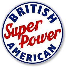"12"" BA BRITISH AMERICAN GASOLINE GAS decal lubster gas pump oil man cave"