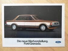 FORD GRANADA RANGE 1977 SALES BROCHURE - GERMAN