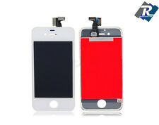 TOUCH SCREEN VETRO SCHERMO + LCD DISPLAY RETINA + FRAME IPHONE 4  4 G BIANCO