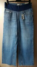 BNWT Topshop MOTO Maternity Blue Denim Crop Jeans Size UK 10 L 34 (EU 38) RRP£40