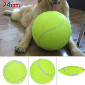 24CM Giant Tennis Ball Dog Chew Toy Big Inflatable Supplies Outdoor Toys UK