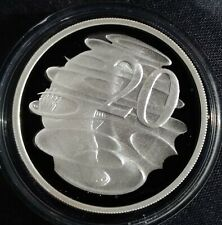 Australian 1998 20 cent proof of a 1966 20 cent ex-Masterpiece in silver set