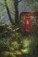 "DAVID DIPNALL ""Spring Message"" postbox SIGNED LTD ED! SIZE:41cm x 29cm NEW RARE"