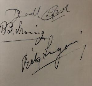 Bela Lugosi Autograph hardcover book-History of everyday things in England 1935