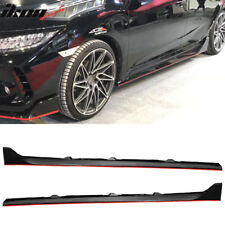 Fits 16-18 Honda Civic Side Skirts Step Extensions - PP