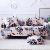 1 2 3 4 Seater Sofa Covers Floral Slipcover Elastic Stretch Settee Protector