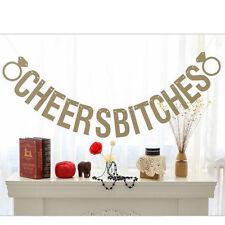 CHEERS BITCHES Hen Do Party Bunting Banner Garland Decor Wedding Bridal Shower