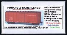 Funaro F&C 6935 BALTIMORE OHIO  WagonTop B&O Corrugated Sheathing Boxcar 1-PIECE